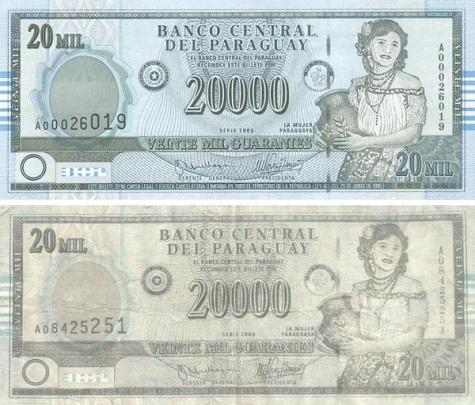 oben = Original, unten = Falschgeld