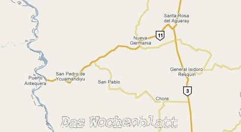 Karte der Gegend