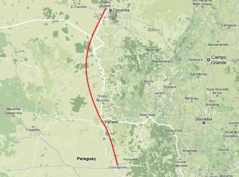 Geplanter Weg der Gaspipeline