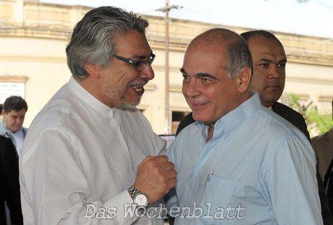 Lugo im Gespräch mit Lopez Perito