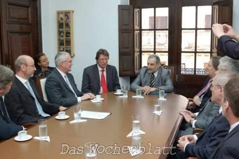 Die Delegation im Außenministerium