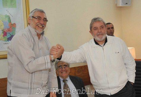 Lugo und Da Silva in Asunción (Flickr)