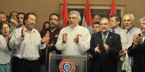 Lugo und einige Minister am gestrigen Abend (Flickr)
