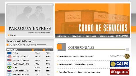 Paraguay Express Webpräsenz, alles was noch geblieben ist...