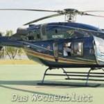 Lugo macht Probeflug mit 5 Millionen US-Dollar Helikopter