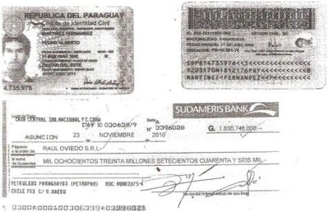 Typisch Paraguay: Mit geklontem Scheck sollte die Petropar um ein riesiger Betrag erleichtert werden