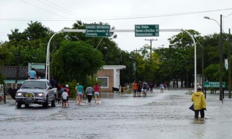Unwetter schädigt um die 6.000 Personen in den Provinzen Ñeembucú und Misiones