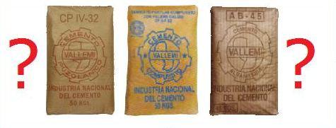 Zementtypen in Paraguay