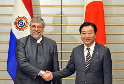 Lugo und Ministerpräsident Yoshihiko Noda (Abc)