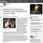 """Amerikanische Zeitschrift """"Forbes"""" erkennt keinen Staatsstreich in Paraguay"""