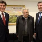 Präsidentschaftskandidat Alegre zu Besuch bei José Mujica