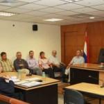 Mitglieder des Vorstandes der Kolonie Neuland vor Gericht