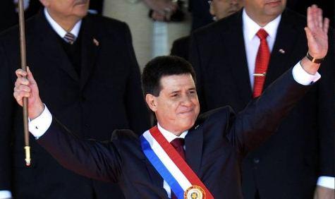 Horacio Cartes leistete seinen Amtsschwur