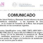 Gesundheitsministerium warnt vor paraguayischem Wein