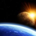 Der Mond entfernt sich