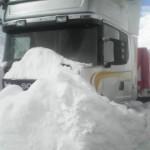 Paraguayer stecken im Schnee fest