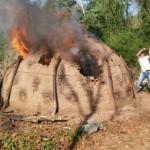 Kohlenmeiler im Nationalpark zerstört