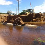 Brücke eingestürzt