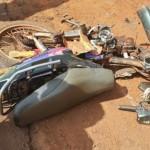 Unfall mit Bus und drei Personen auf dem Motorrad