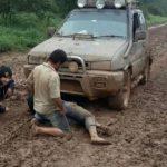 Katastrophale Straßenzustände im Chaco