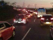 Verkehrschaos bei Ypacaraí