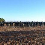 1.200 Polizisten räumen besetztes Land