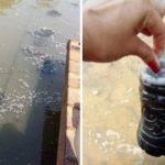 Warnung vor Fischen aus Tebicuarymí Fluss