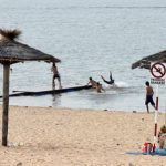 Ein Strand, aber Baden verboten