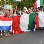 Die Italiener zeigen Präsenz
