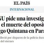 UNO fordert Untersuchung des Todes von Rodrigo Quintana