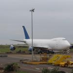 Eine Boeing 747 ist frei