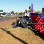Landeanflug auf Ruta 7 endet in Unfall