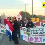 Transchaco Route von Demonstranten gesperrt