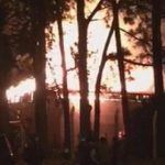 Yerba Schuppen deutscher Eigentümer brennt ab
