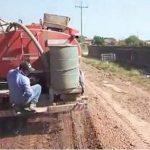 Einsatz von Chemikalien für den Straßenbau im Chaco