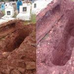 Unbekannte Grabräuber öffnen Mausoleum