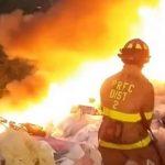 Streit unter Müllsuchern löst anscheinend Feuer aus