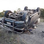 Schlagloch führt zu schwerem Unfall im Chaco