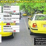 "Taxifahrer in Asunción ""missbrauchen"" 1.000 Parkplätze"