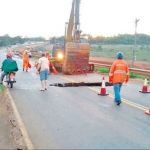 Fernstraße VII abgesackt – Vollsperrung