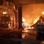 Großbrand bei Lebensmittelimporteur