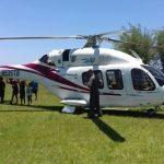 Hubschrauber vom Staatspräsidenten muss notlanden