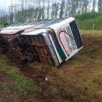 Bus vom Transportunternehmen Independencia verunglückt