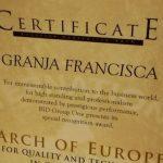 Internationale Auszeichnung für die Granja Francisca