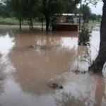 Häuser im Chaco unter Wasser
