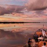 Sonnenuntergang vom Boot aus gewinnt 1. Preis