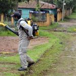 Pestizid-Sprühflugzeuge im Einsatz gegen die Mückenplage