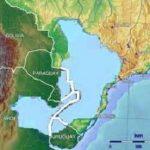 Die Plünderung von dem Wasser in Südamerika