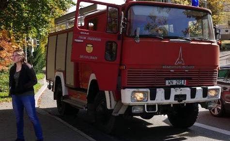 Erster Brandeinsatz der Feuerwehr Carlos Pfannl
