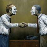 Heuchlerische Doppelmoral, mit einer falschen Ethik im Schlepptau